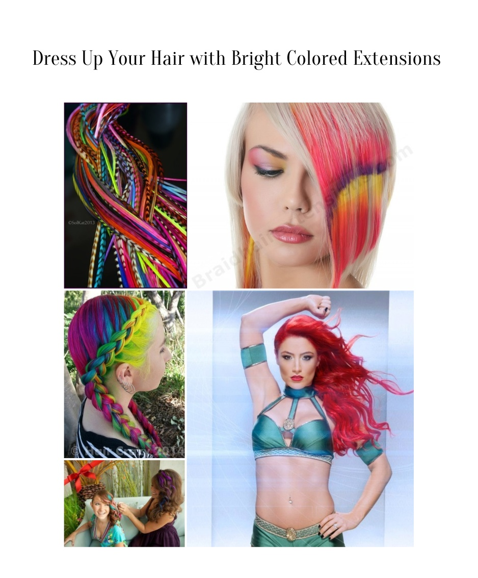 Dress Up Your Hair With Bright Colored Extensionsg